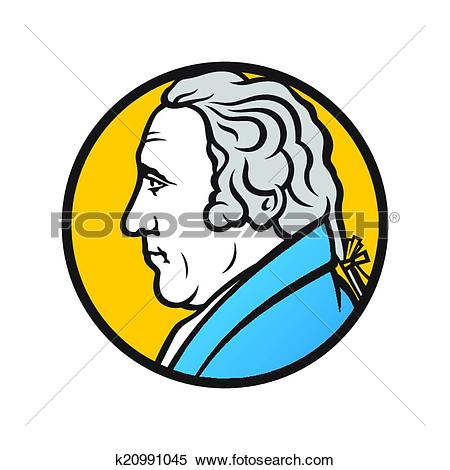 Clipart of Engineer and inventor James Watt k20991045.