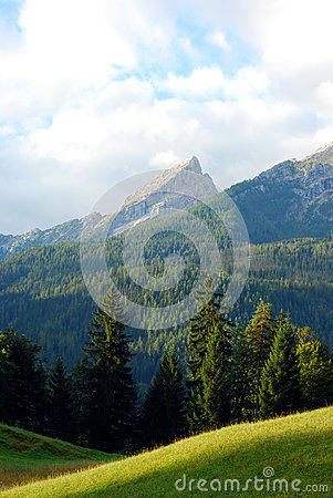 Large Rock In The German Alps Stock Photography.