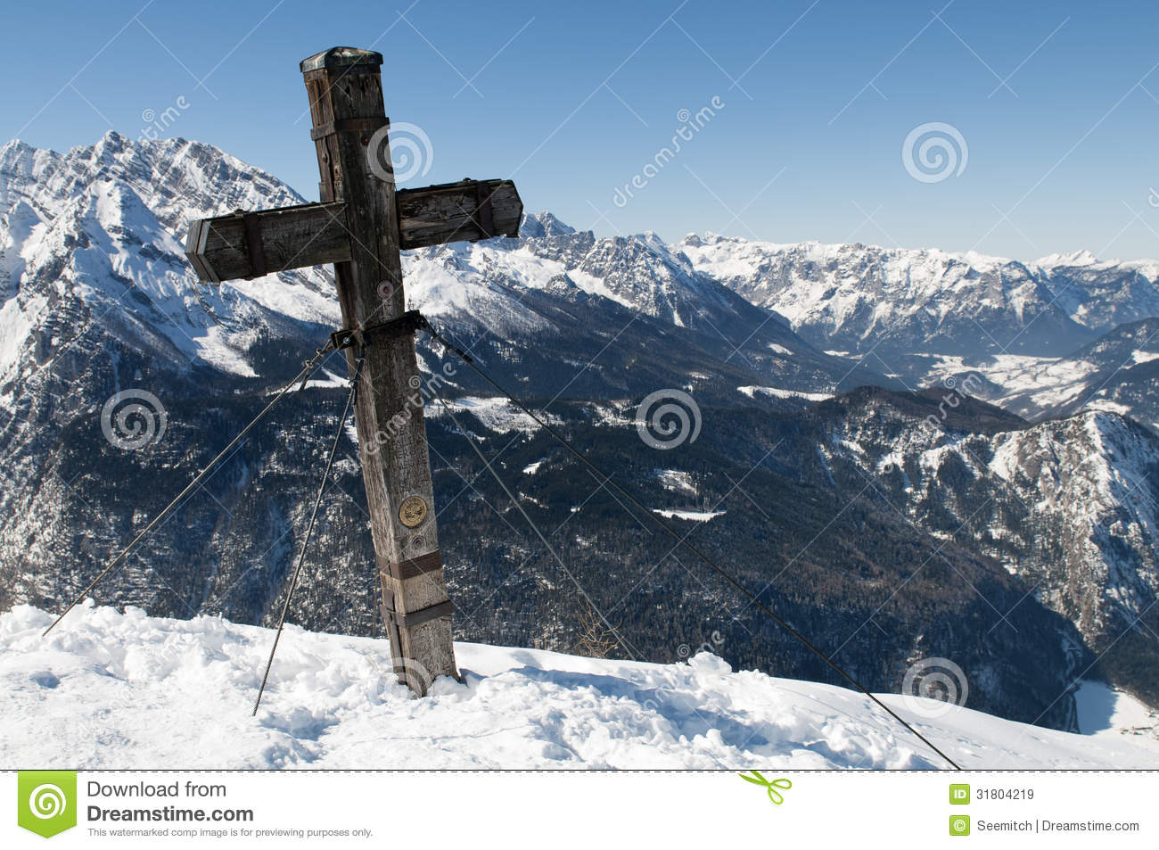 Watzmann Summit Stock Photo.