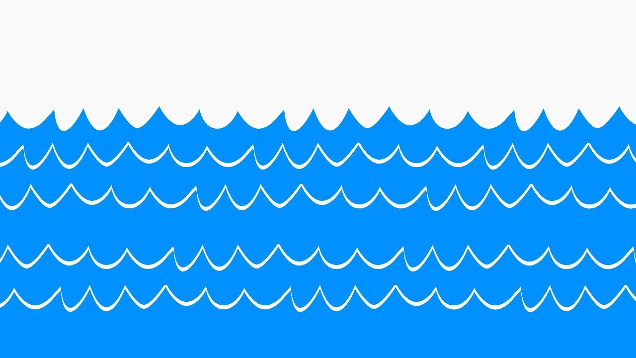 Cartoon ocean waves clipart.