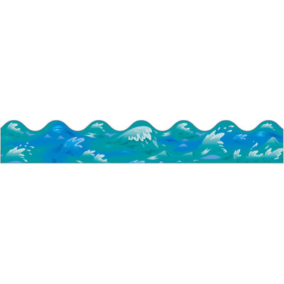 Waves water wave border clipart 4.