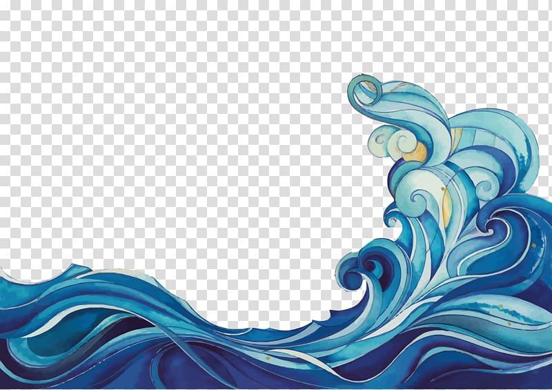 Barrel wave , Cartoon Wave , cartoon waves transparent.