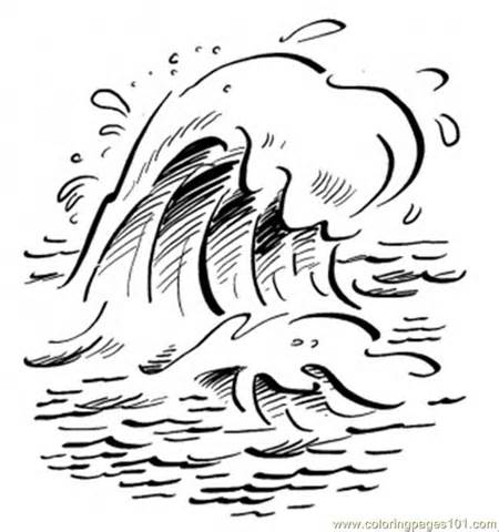 Clipart Ocean Waves Black And White.