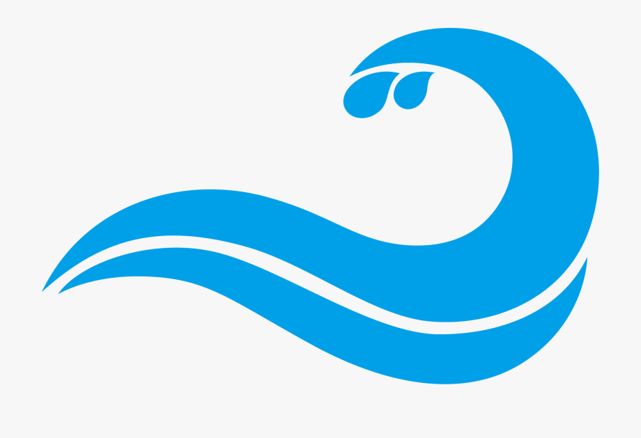 Blue Waves Drawing Wind Wave Free Download Png Hd Clipart.