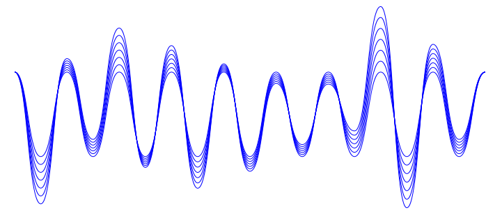 How to draw a sound wave in Illustrator.
