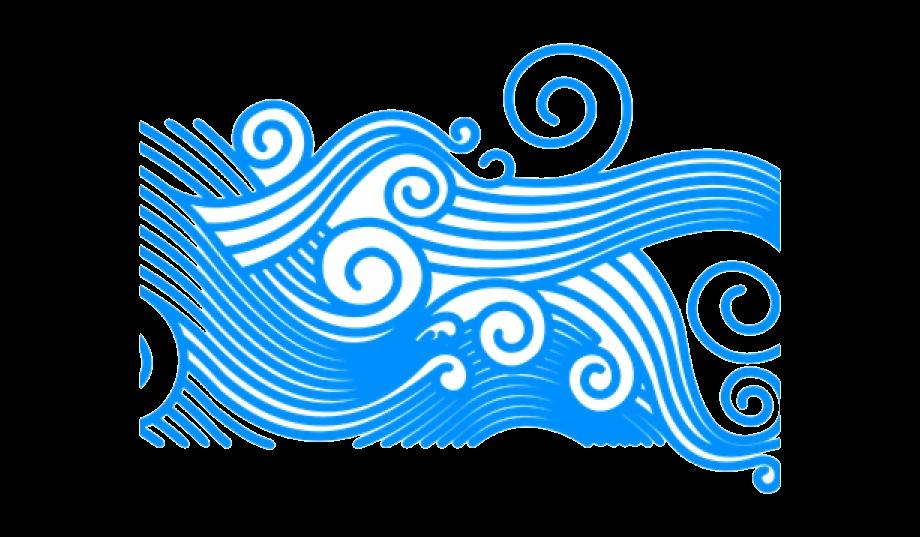 Wave Clip Art Clipart Curly Ocean Waves Transparent.