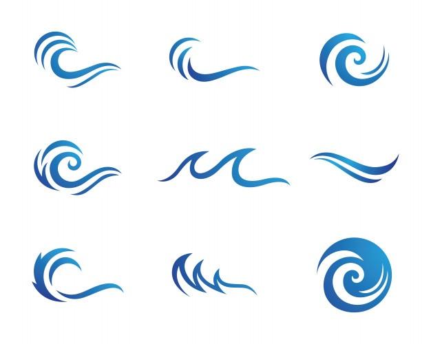 Waves Vectors, Photos and PSD files.