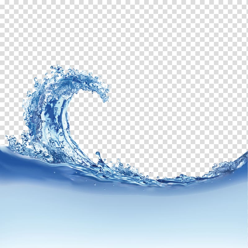 Blue water illustration, Wind wave Dispersion Wave.