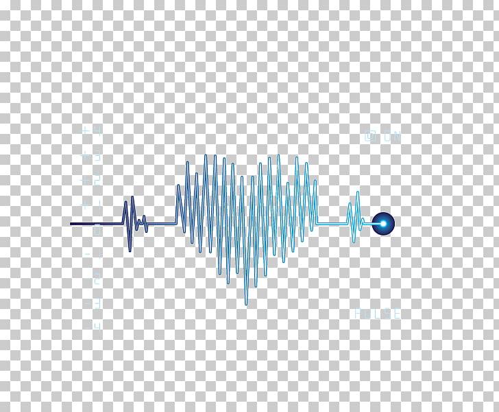 Graphic design Wind wave Pattern, ECG,wave,heart, blue heart.