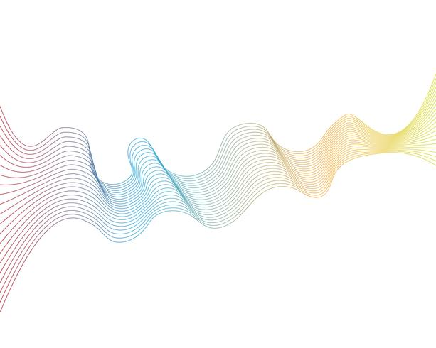 wave line graphic illustration vector.