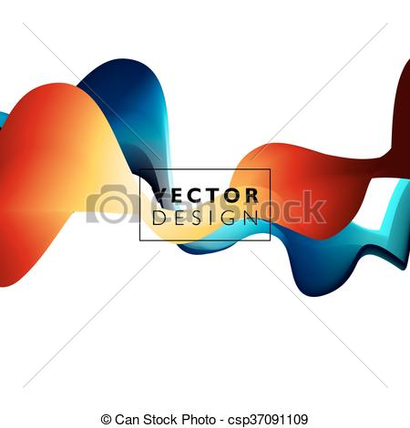 Vector Clipart of Abstract smooth wave motion illustration.