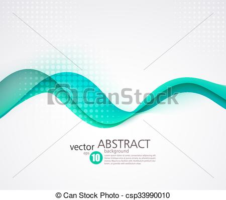Vector Clip Art of Abstract smooth wave motion illustration.