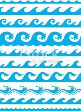 seamless ocean wave pattern.