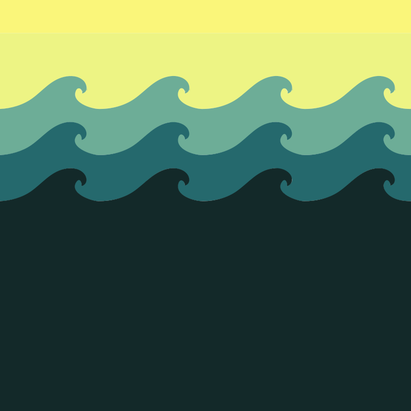 Free Clipart: Tiled Wave Pattern.