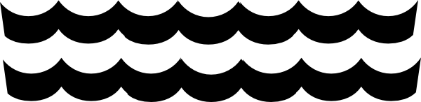 Waves black and white wave pattern clip art at vector clip art.
