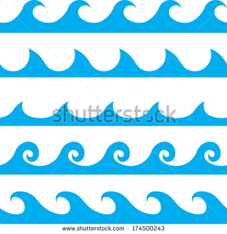 Waves clipart outline.