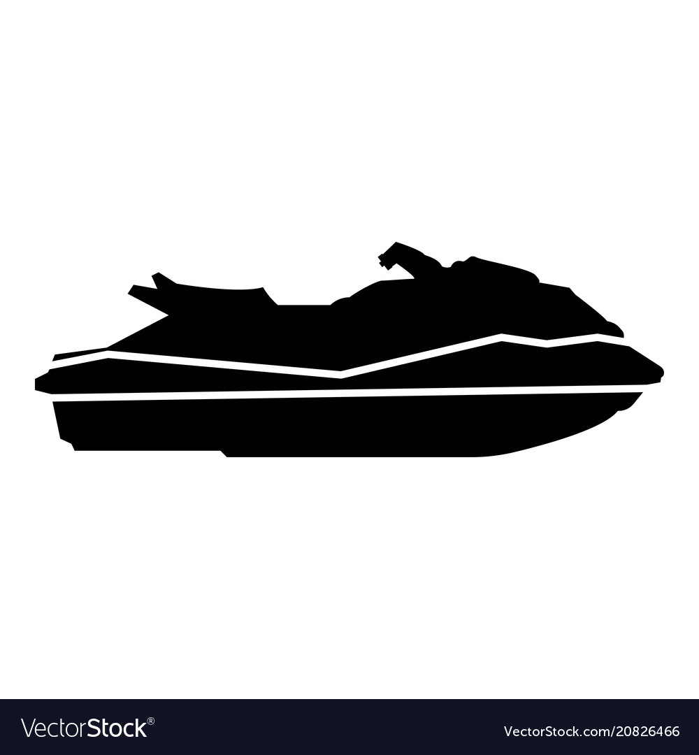 Waverunner icon black color flat style simple.