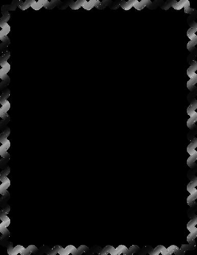 Vector graphics of sine wave border.