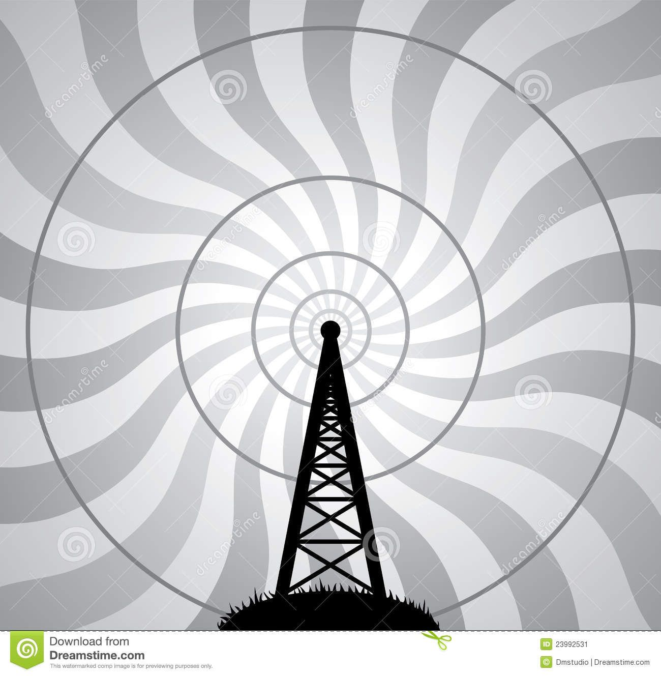 VECTOR RADIO TOWER.
