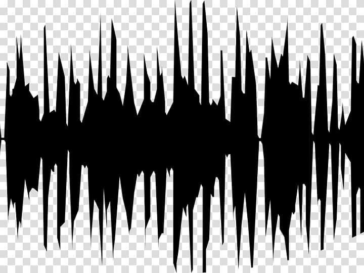 Acoustic wave Sound Waveform , wave transparent background.