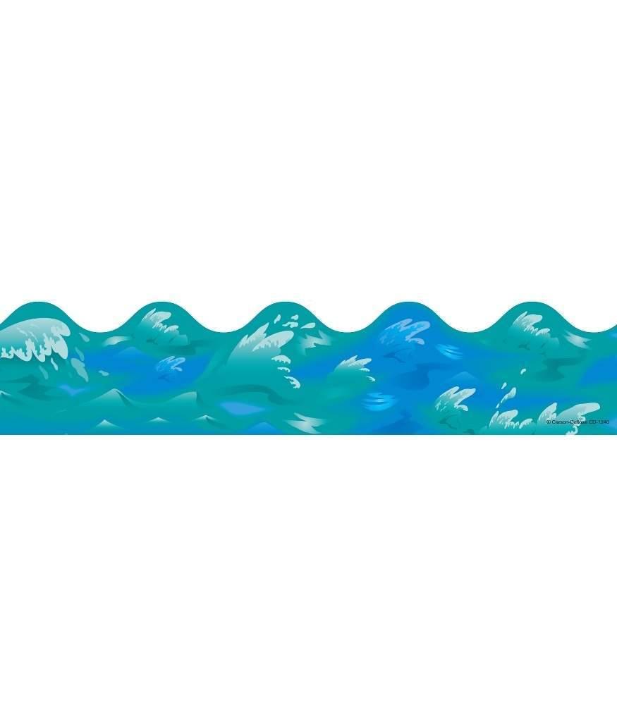 Ocean waves border clipart 4 » Clipart Portal.