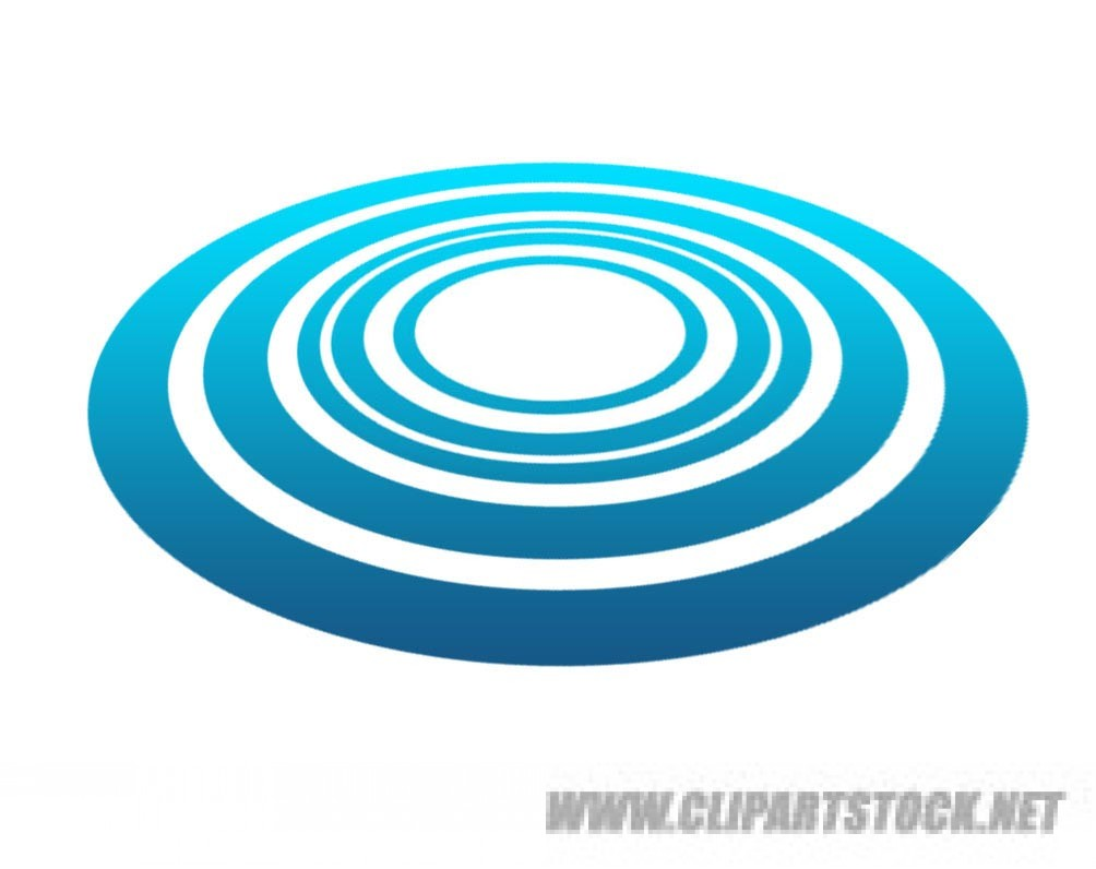 Circle water clipart.