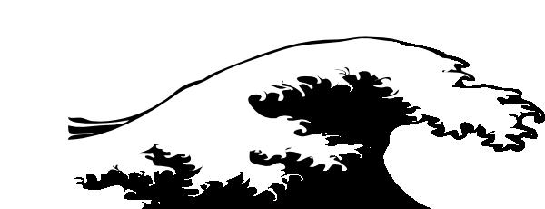 Wave Crashing Black And White SVG Clip arts download.