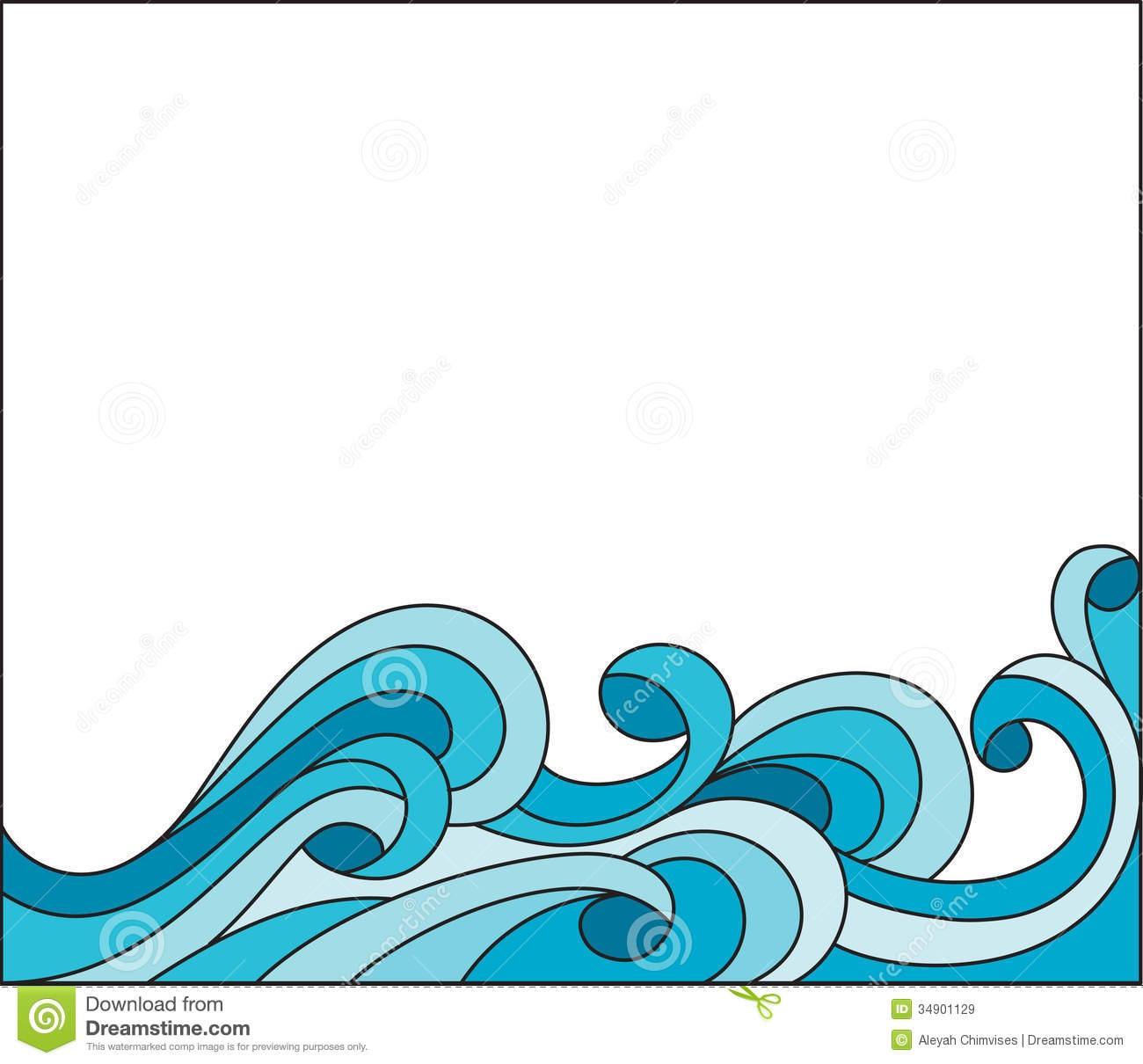 Waves Clip Art Border.