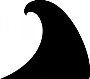 Waterline Wave Clip Art.