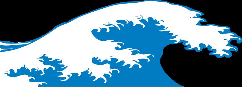 Free Clipart: Crashing wave.