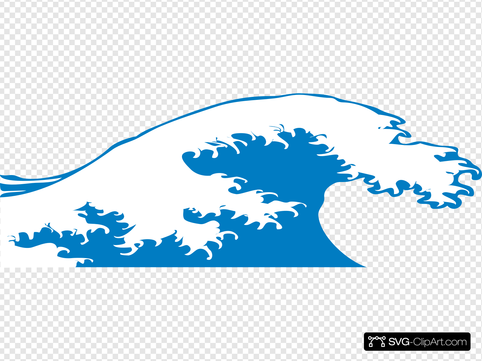 Crashing Wave Clip art, Icon and SVG.
