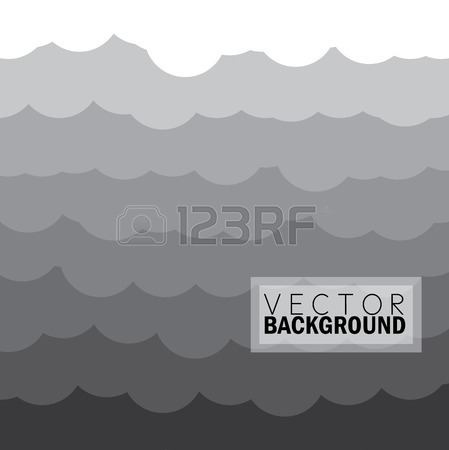 Wave Of Clouds Background In Grey.