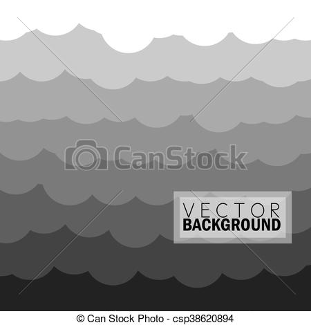 EPS Vectors of wave of clouds background in grey.
