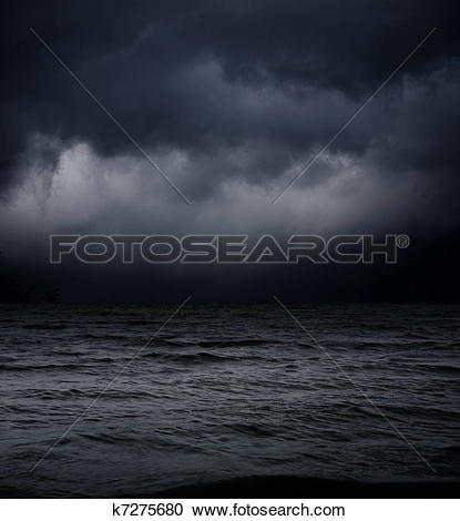 Stock Photography of art abstract dark background. sea waves.