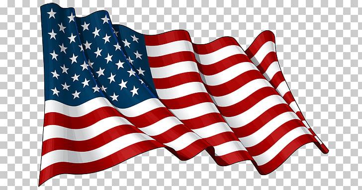 Usa Waving Flag, U.S. flag PNG clipart.