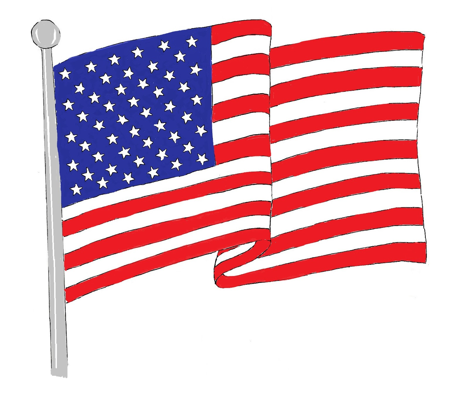 Us flag waving american flag clipart the cliparts.