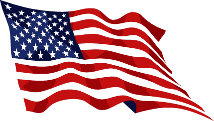 American flag usa waving flag clipart clipartcow.