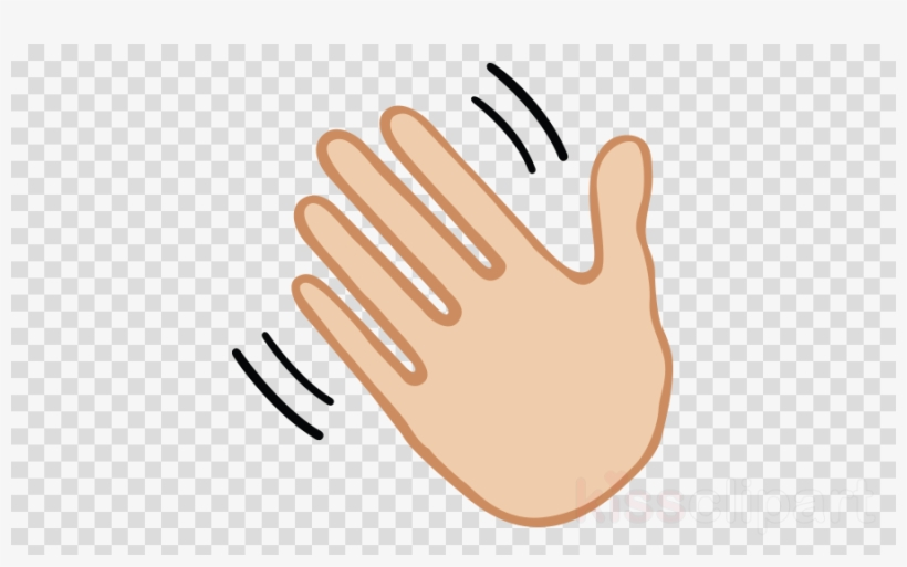 Wave Clipart Wave Emoji Hand.