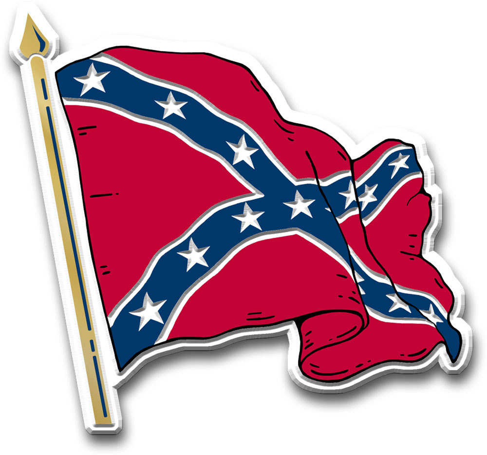 Confederate Battle Flag (Waving) Magnet.