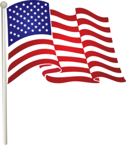 United States Waving Flag clip art.