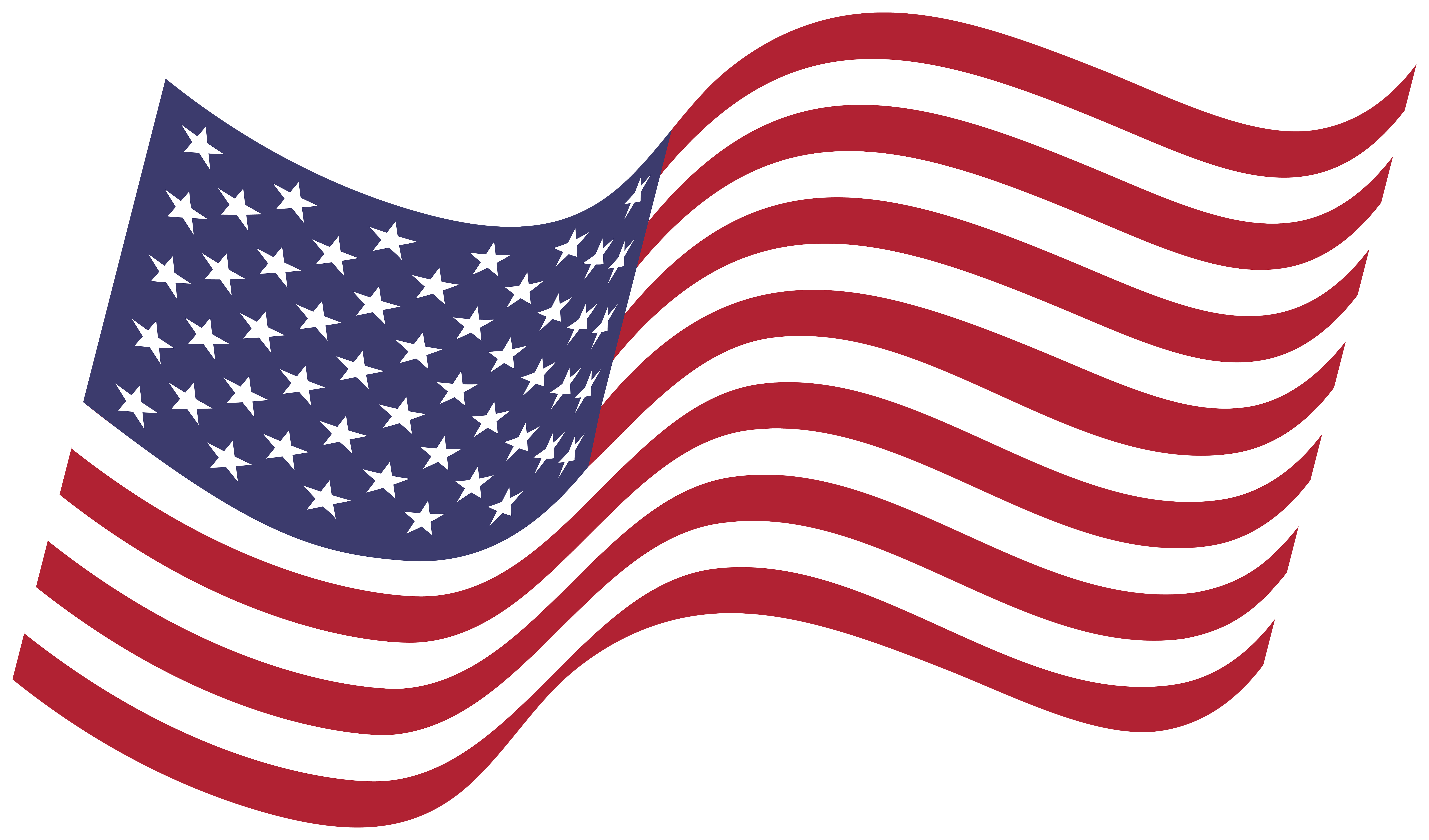 America Waving Flag PNG Clipart.