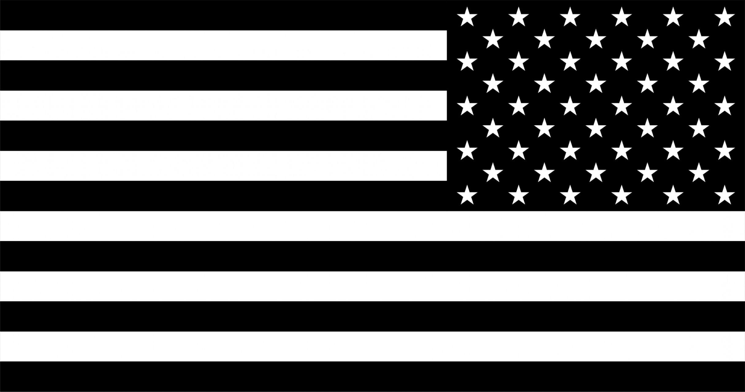 Us Flag Clipart Black And White.