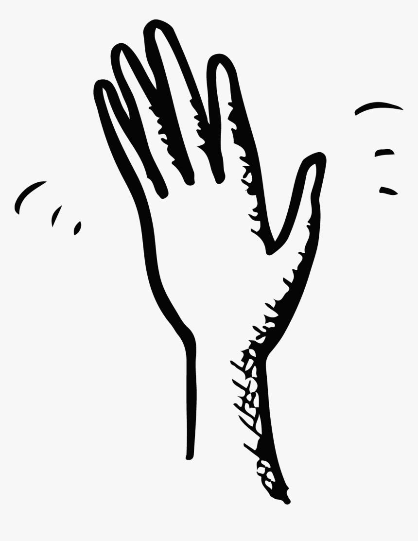 Hand Wave Black And.