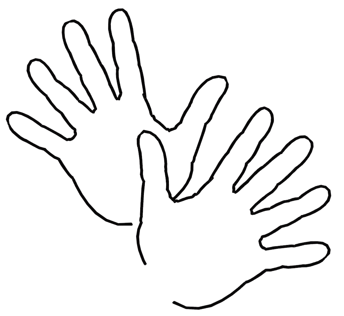 Hand Clipart Coloring Pages: best transparent & png cliparts.