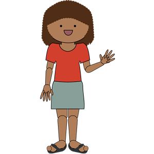Woman waving hello clipart, cliparts of Woman waving hello.