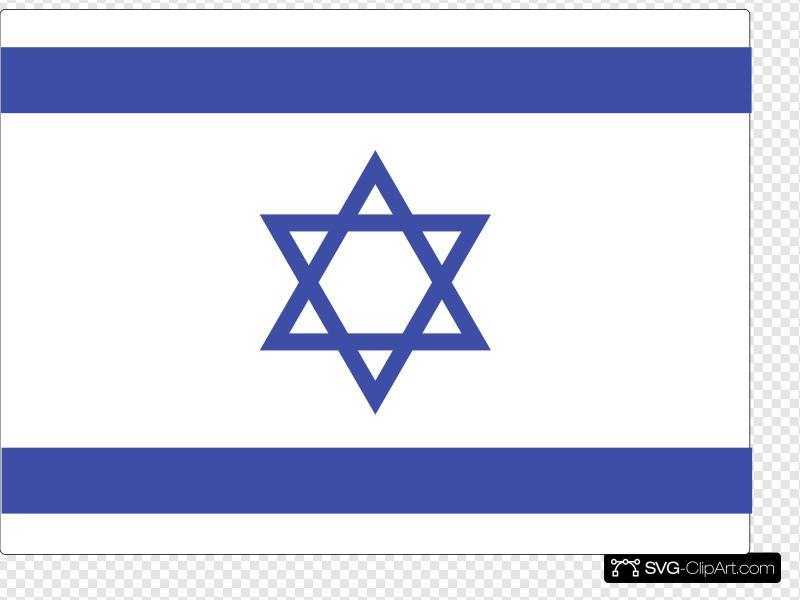 Israeli Flag Clip art, Icon and SVG.