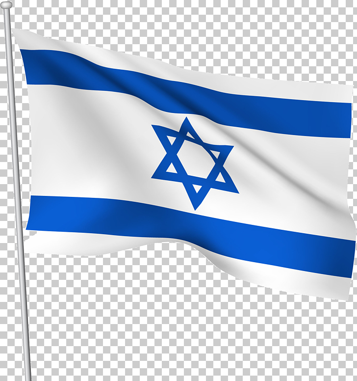 Flag of Israel , Israel flag , waving Israel flag PNG.