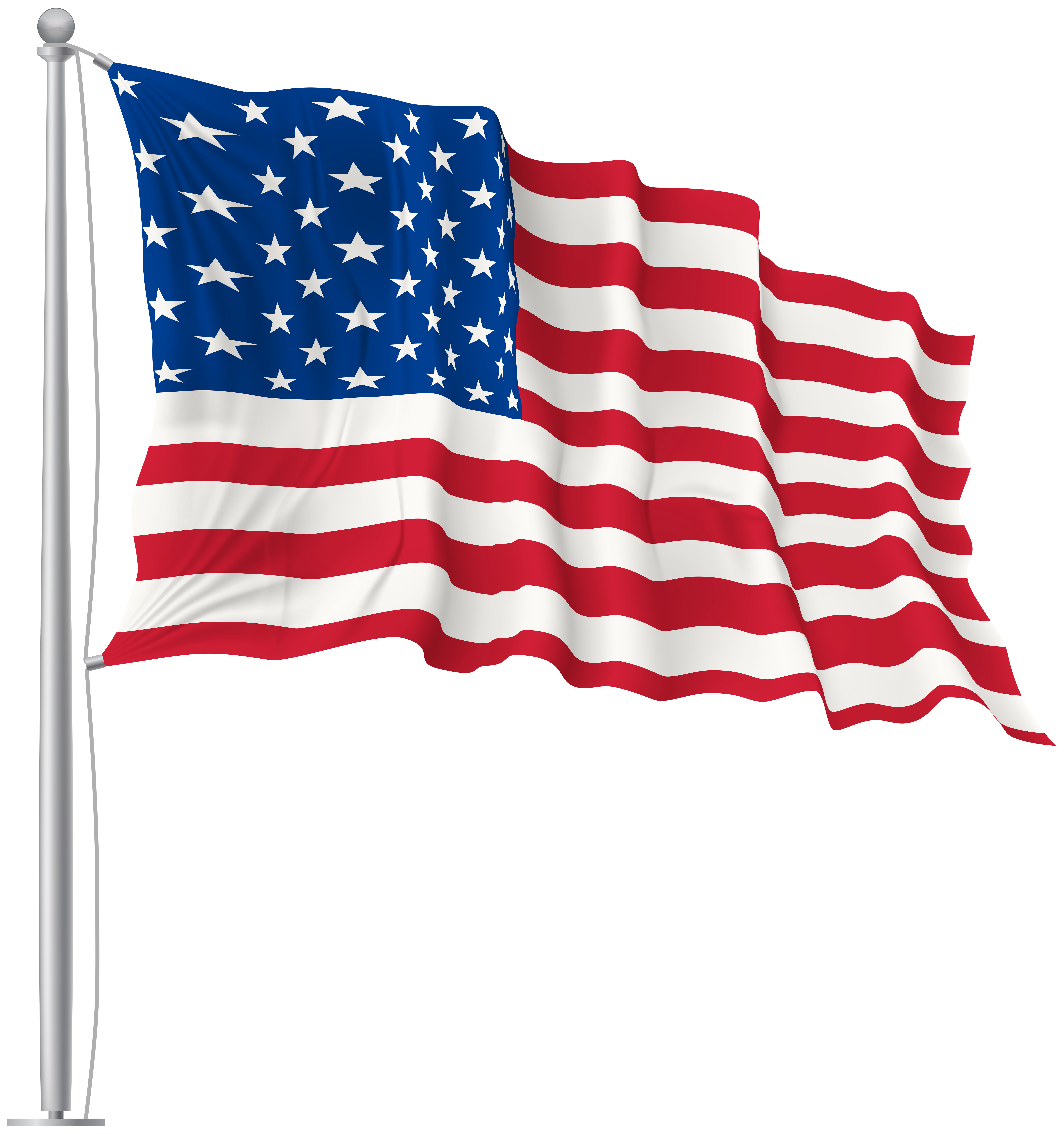 Pennant clipart flag american, Pennant flag american.