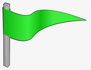 Green, Flag, Pennon, Waving, Pennant, Banner.