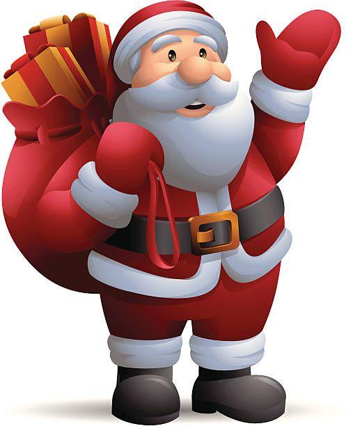 Santa Claus: Waving.